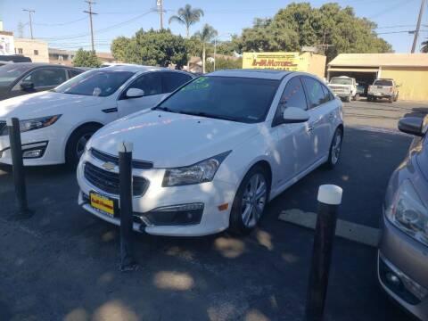 2015 Chevrolet Cruze for sale at L & M MOTORS in Santa Maria CA