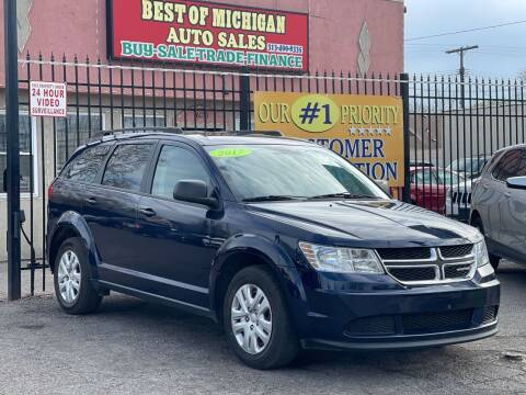 2017 Dodge Journey for sale at Best of Michigan Auto Sales in Detroit MI