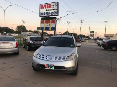 2004 Nissan Murano for sale at MB Auto Sales in Oklahoma City OK