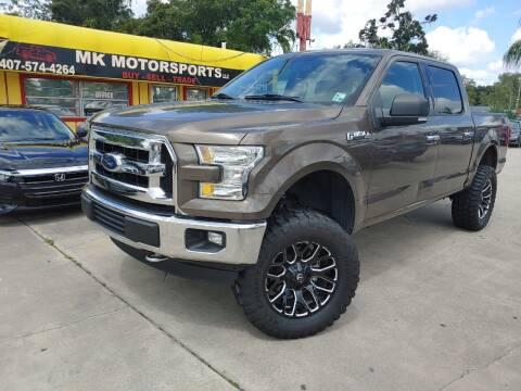 2016 Ford F-150 for sale at MK Motorsports LLC. in Orlando FL