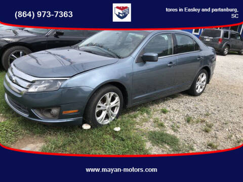 2012 Ford Fusion for sale at Mayan Motors Easley in Easley SC