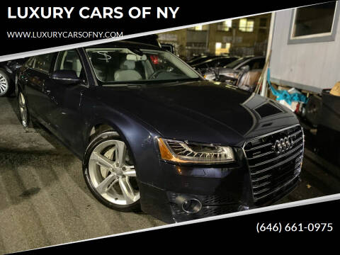 2018 Audi A8 L for sale at LUXURY CARS OF NY in Queens NY