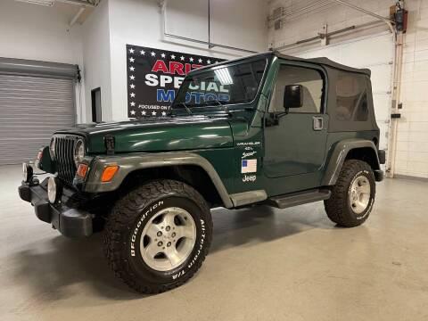 2001 Jeep Wrangler for sale at Arizona Specialty Motors in Tempe AZ