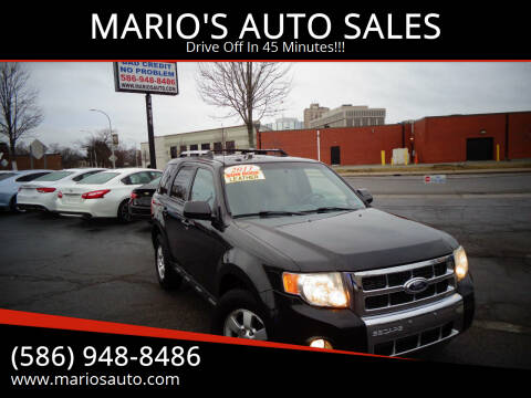 2011 Ford Escape for sale at MARIO'S AUTO SALES in Mount Clemens MI