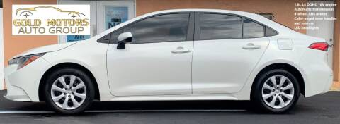 2020 Toyota Corolla for sale at Gold Motors Auto Group Inc in Tampa FL