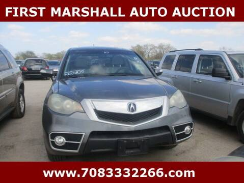 2010 Acura RDX for sale at First Marshall Auto Auction in Harvey IL