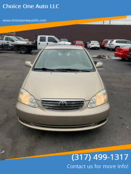 2005 Toyota Corolla for sale at Choice One Auto LLC in Beech Grove IN