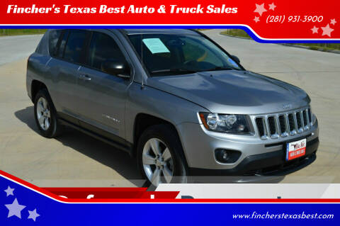 2016 Jeep Compass for sale at Fincher's Texas Best Auto & Truck Sales in Tomball TX