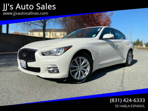 2016 Infiniti Q50 for sale at JJ's Auto Sales in Salinas CA