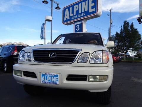 2000 Lexus LX 470 for sale at Alpine Auto Sales in Salt Lake City UT