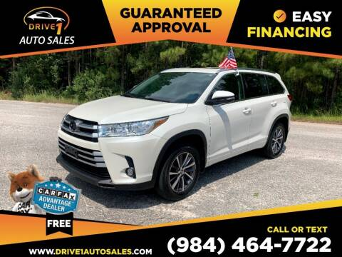 2018 Toyota Highlander for sale at Drive 1 Auto Sales in Wake Forest NC
