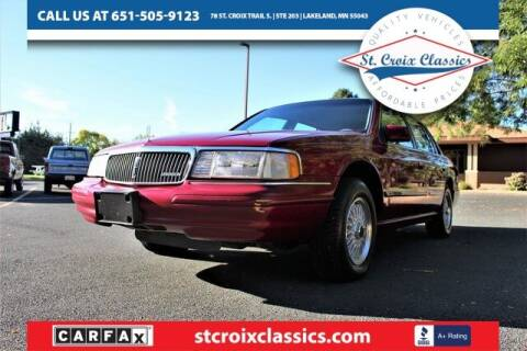 1994 Lincoln Continental for sale at St. Croix Classics in Lakeland MN