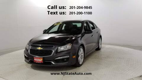 2015 Chevrolet Cruze for sale at NJ State Auto Used Cars in Jersey City NJ