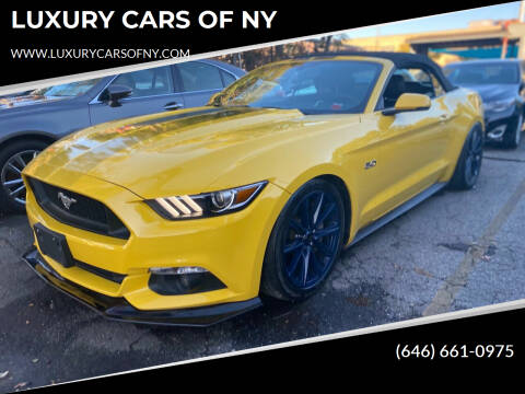 2016 Ford Mustang for sale at LUXURY CARS OF NY in Queens NY