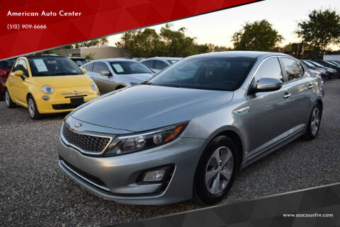 2015 Kia Optima Hybrid for sale at American Auto Center in Austin TX
