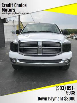 2008 Dodge Ram Pickup 1500 for sale at Credit Choice Motors in Sherman TX