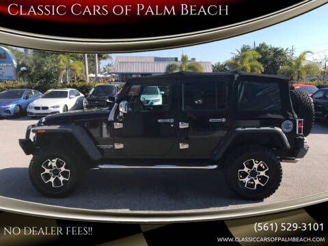 2010 Jeep Wrangler Unlimited for sale at Classic Cars of Palm Beach in Jupiter FL
