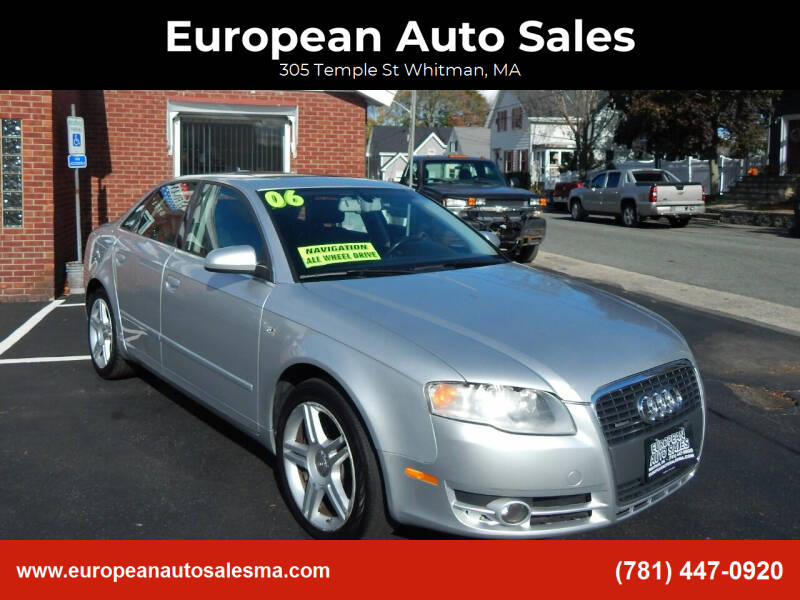 2006 Audi A4 for sale at European Auto Sales in Whitman MA