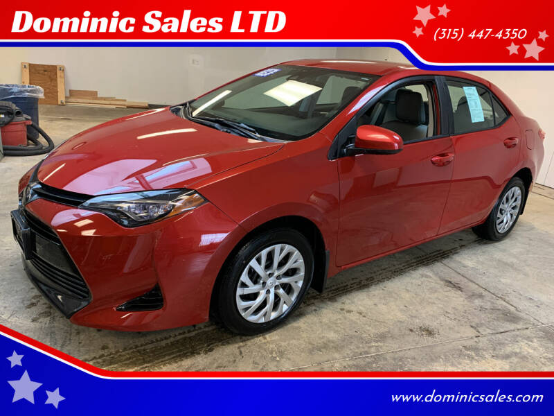 2019 Toyota Corolla for sale at Dominic Sales LTD in Syracuse NY