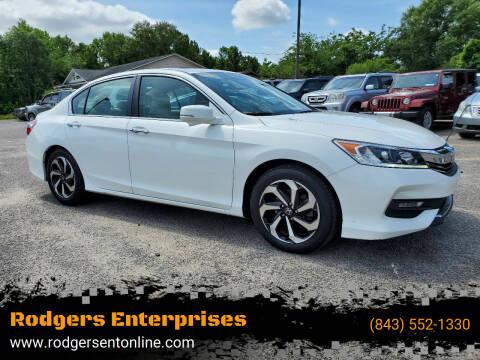2016 Honda Accord for sale at Rodgers Enterprises in North Charleston SC