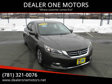 2014 Honda Accord for sale at DEALER ONE MOTORS in Malden MA