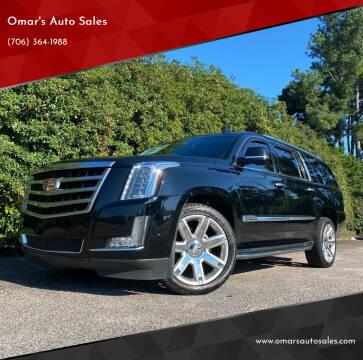 2017 Cadillac Escalade ESV for sale at Omar's Auto Sales in Martinez GA