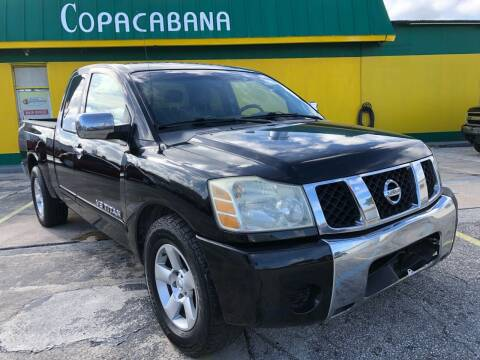 2005 Nissan Titan for sale at Trans Copacabana Auto Sales in Hollywood FL