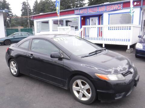 2008 Honda Civic for sale at 777 Auto Sales and Service in Tacoma WA