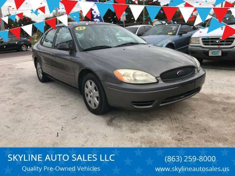 2005 Ford Taurus for sale at SKYLINE AUTO SALES LLC in Winter Haven FL