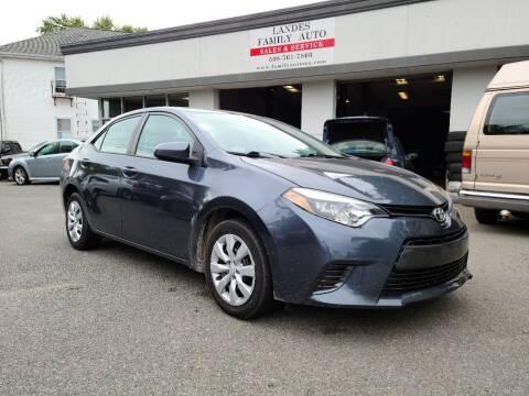 2016 Toyota Corolla for sale at Landes Family Auto Sales in Attleboro MA