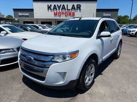 2014 Ford Edge for sale at KAYALAR MOTORS in Houston TX