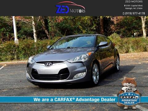 2015 Hyundai Veloster for sale at Zed Motors in Raleigh NC