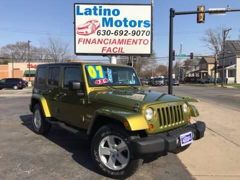 2007 Jeep Wrangler Unlimited for sale at Latino Motors in Aurora IL