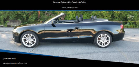 2011 Audi A5 for sale at German Automotive Service & Sales in Knoxville TN