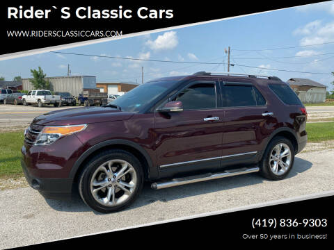 2011 Ford Explorer for sale at Rider`s Classic Cars in Millbury OH
