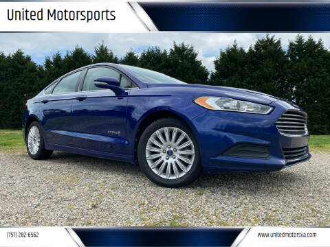 2013 Ford Fusion Hybrid for sale at United Motorsports in Virginia Beach VA