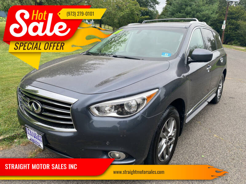 2013 Infiniti JX35 for sale at STRAIGHT MOTOR SALES INC in Paterson NJ