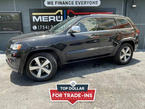 2015 Jeep Grand Cherokee for sale at Meru Motors in Hollywood FL