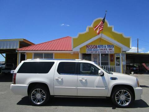 2012 Cadillac Escalade ESV for sale at Mission Auto & Truck Sales, Inc. in Mission TX