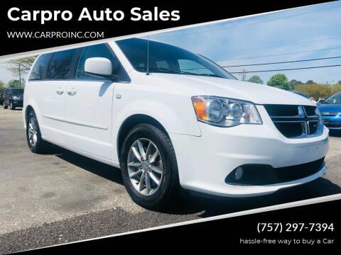 2014 Dodge Grand Caravan for sale at Carpro Auto Sales in Chesapeake VA