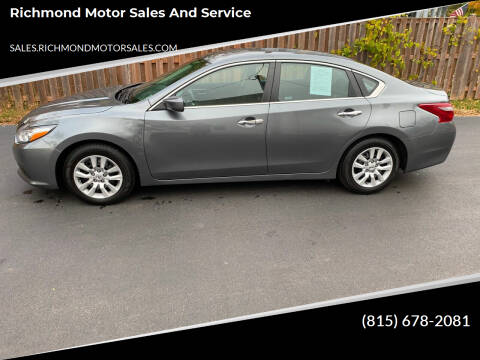 2018 Nissan Altima for sale at Richmond Motor Sales and Service in Richmond IL
