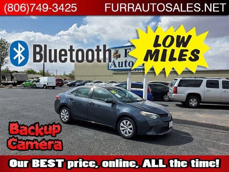 2015 Toyota Corolla for sale at FURR AUTO SALES in Lubbock TX
