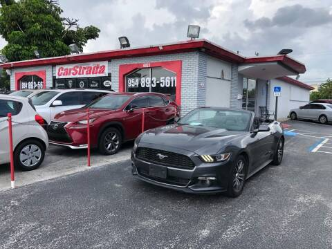 2016 Ford Mustang for sale at CARSTRADA in Hollywood FL