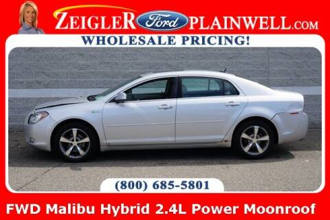 2009 Chevrolet Malibu Hybrid for sale at Zeigler Ford of Plainwell- Jeff Bishop in Plainwell MI