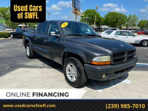 2003 Dodge Dakota for sale at Used Cars of SWFL in Fort Myers FL