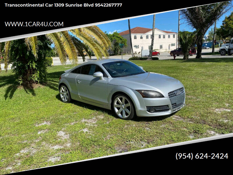 2008 Audi TT for sale at Transcontinental Car in Fort Lauderdale FL