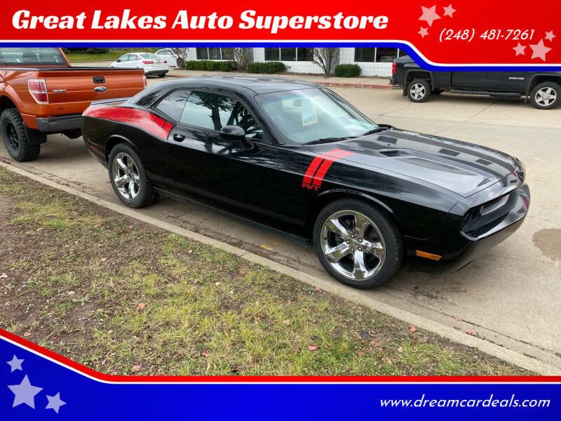 2014 Dodge Challenger for sale at Great Lakes Auto Superstore in Pontiac MI