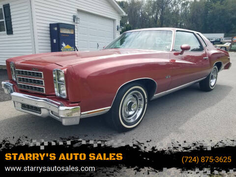 1976 Chevrolet Monte Carlo for sale at STARRY'S AUTO SALES in New Alexandria PA