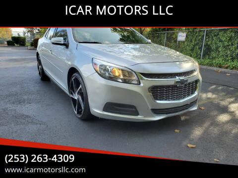 2015 Chevrolet Malibu for sale at ICAR MOTORS LLC in Federal Way WA