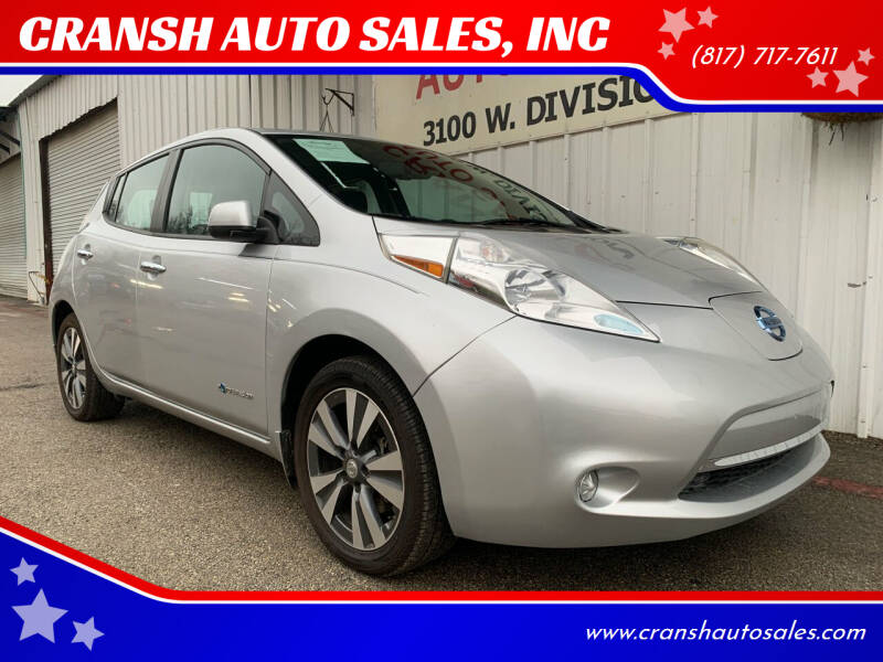 2015 Nissan LEAF for sale at CRANSH AUTO SALES, INC in Arlington TX